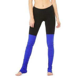 ALO Yoga Goddess Ribbed Leggings in Black & Blue